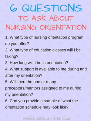 Nursing Orientation: What to know for your job search
