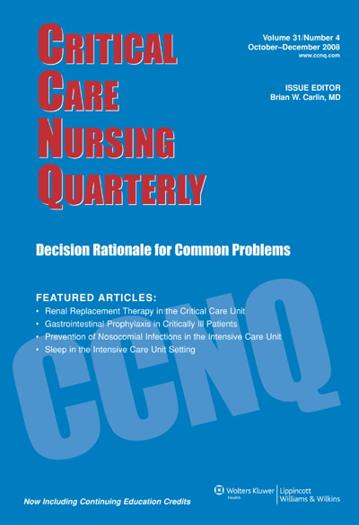 Critical Care Nursing Quarterly