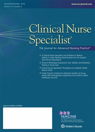 Clinical Nurse Specialist: The Journal for Advanced Nursing Practice ...