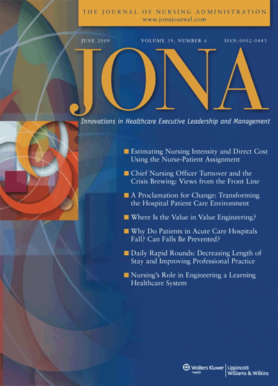 JONA: Journal of Nursing Administration