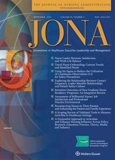 JONA: Journal of Nursing Administration | September 2019 Vol