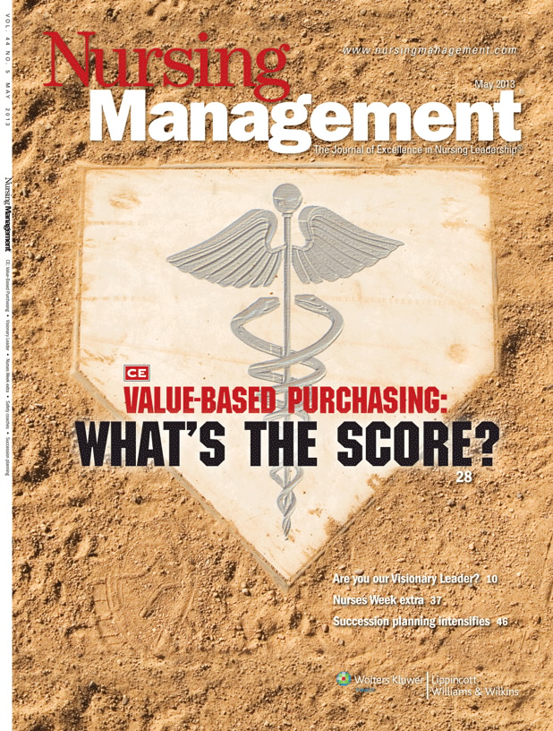 Value based purchasing whats the score article nursingcenter source nursing management fandeluxe Gallery