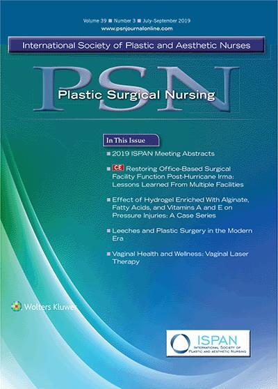 Plastic Surgical Nursing   July/September 2019 Vol 39 Issue
