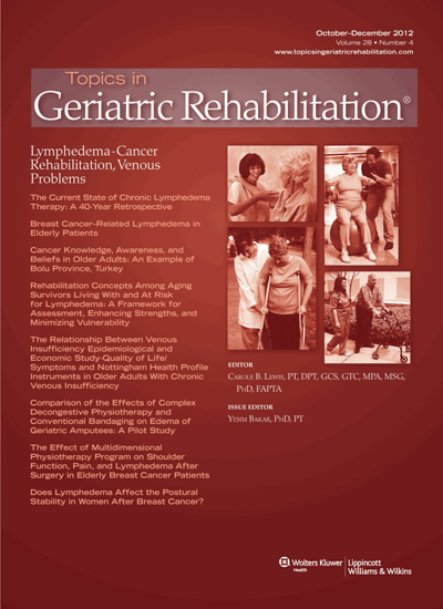 Comparison of the Effects of Complex Decongestive Physiotherapy and