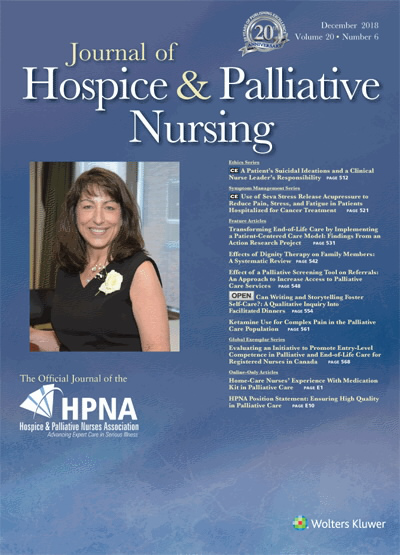 Journal of Hospice and Palliative Nursing | December 2018