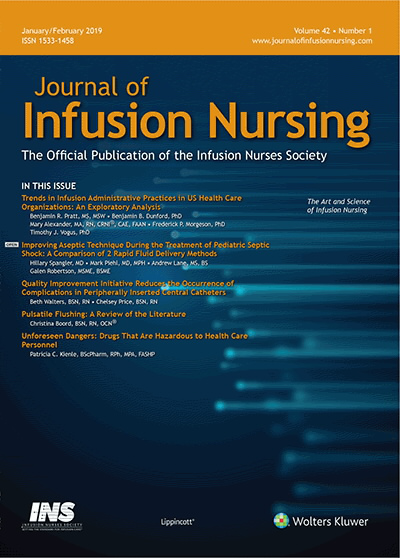 Journal of Infusion Nursing </a> - <Strong>Featured Journal</Strong>