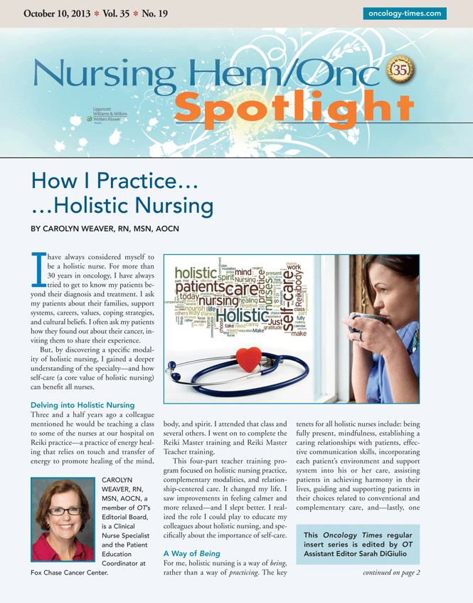 How I Practice Holistic Nursing Article Nursingcenter