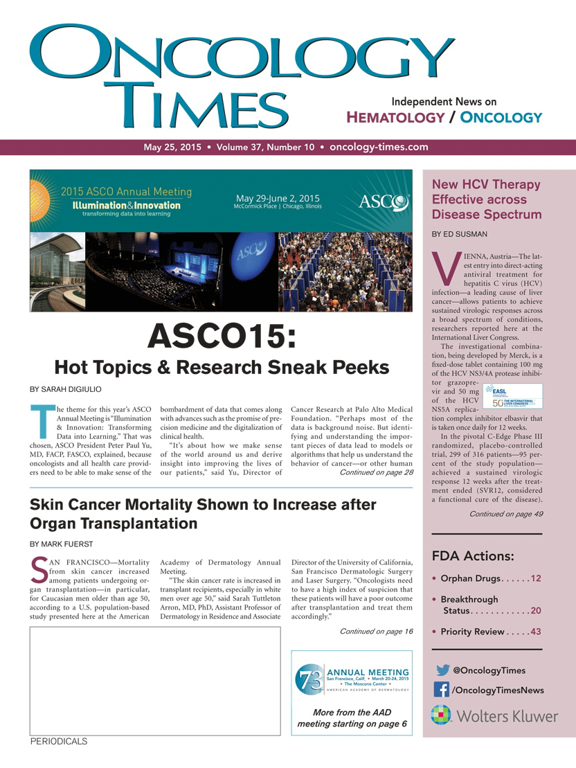 ASCO15 Lectureships, Awards, and Fellows   Article