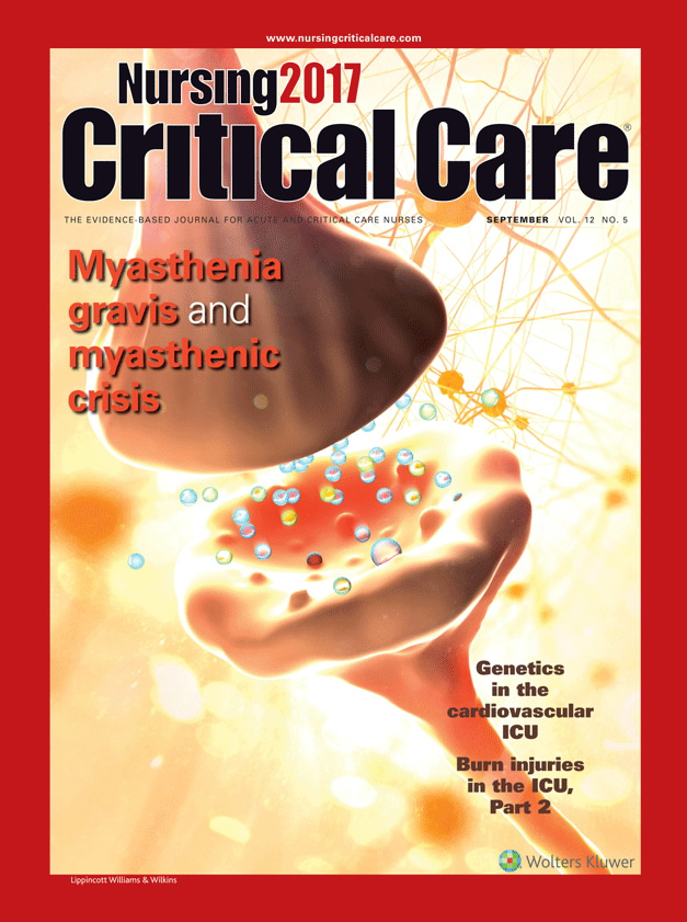 Myasthenia gravis and myasthenic crisis article nursingcenter source nursing2018 critical care fandeluxe Gallery