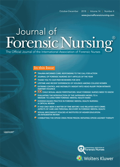 Journal Of Forensic Nursing 2017 Articles Of The Year Article Nursingcenter