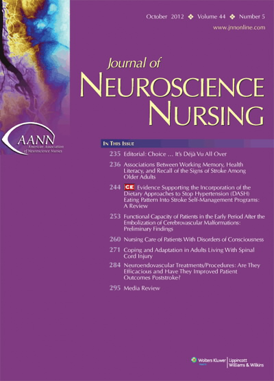 Journal of Neuroscience Nursing