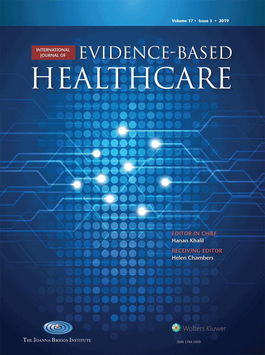 International Journal of Evidence-Based Healthcare